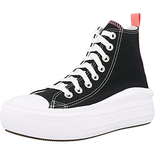 Converse Chuck Taylor All Star Move Hi Negro/Rosa (Black/Pink Salt) Tela 39 EU