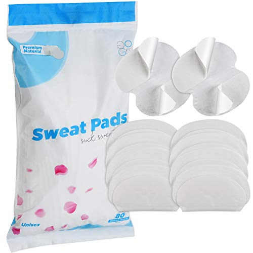 Premium Armpit Sweat Pads [80 Packs] for Women and Men, Best Deodorant and Antiperspirant Alternative, Block Underarm Sweat and Odor, Comfortable Dress Guard/Shield