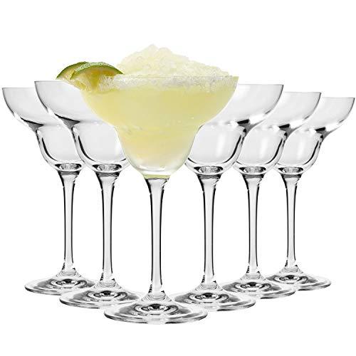 Krosno Margarita Bicchieri Cocktail Vetro Coppa   Set di 6   270 ML   Collezione Avant-Garde   Ideale per la Casa, Il Ristorante, Feste e Ricevimenti   Adatto alla Lavastoviglie
