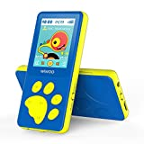 Wiwoo MP3 Player for Kids, Portable Music Player with FM Radio Video Games Sleep Timer Voice Recorder, 1.8' LCD Screen MP3 Music Player Support Up to 128GB, Blue