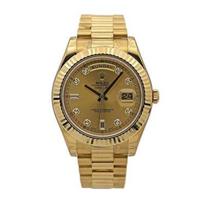 Rolex New Day-Date II 218238 President Yellow Gold 2016 Box/Paper/Warranty #RL78