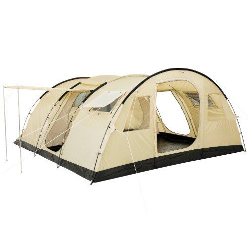 CampFeuer Tente Tunnel Caza Tente pour 6 Personnes | Immense Vestibule, 5000 mm de Colonne d'eau | Sol Cousu et Coutures scellées | Tente de Camping Tente familiale