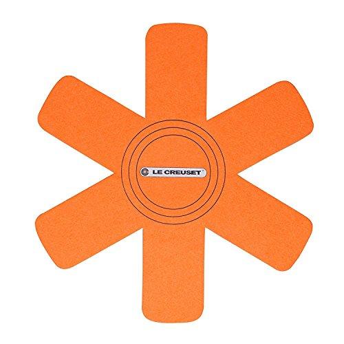Le Creuset 95003440090300 Set di 3 Salvapentola, Adatto per Tutti i Tipi di Pentole, Tessuto, Arancio, 36 cm