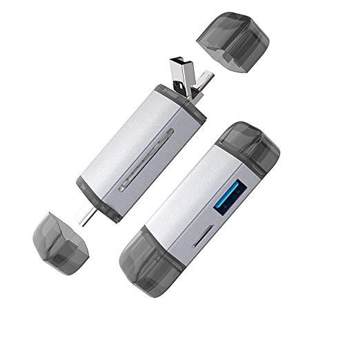 6in1メモリカードリーダー SDメモリーカードリーダー USBマルチカードリーダー 最新版OTG USBポートの追加...
