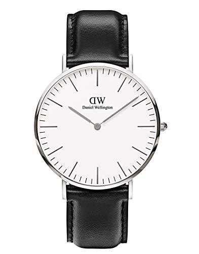 Daniel Wellington Herren Analog Japanischer Quarz Uhr mit Lederband Armband DW00100020
