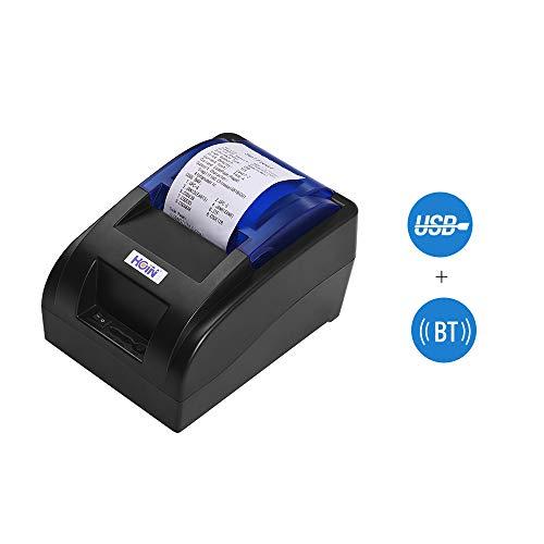 Stampante termica per ricevute da 58 mm con interfaccia BT e USB, stampa chiara di fatture ad alta...
