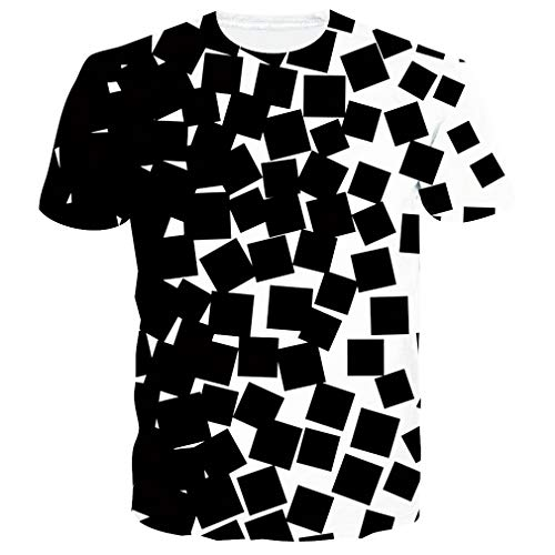 RAISEVERN Camisetas 3D Unicornio Hombre Mujere Verano Casual Manga Corta Camiseta Tops Ropa S
