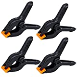 HGHDBT Spring Clamps Backdrop Clips - 4 Pack 4.5inch Heavy Duty Muslin Clamps for Crafts Home Improvement Photography Studio Backdrop Stand Woodworking