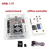 3 Axis 1.1f Laser Control Board USB GRBL Control Board with GRBL Offline Controller Remote Hand Control for CNC Router Engraving Milling Mini DIY Laser Machine CNC 1610/2418/3018/3018 PRO