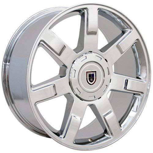 OE Wheels LLC 22 Inch Fits Chevy Silverado Tahoe GMC Sierra Yukon Cadillac Escalade CV80 Chrome 22x9 Rim Hollander 5309