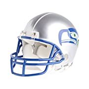 Approximate 1/2-scale version of helmet ABS plastic shell Face mask Realistic jaw pads Team logo decals