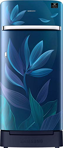 Samsung 198 L 5 Star Inverter Direct-Cool Single Door Refrigerator (RR21T2H2W9U/HL, Paradise Blue,...