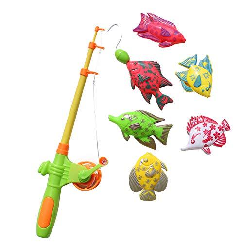 quanjucheer Giocattolo di Pesca, Giocattolo del Bagno, Giocattolo Magnetico di Pesca Giocattolo Impermeabile Galleggiante della Vasca da Pesca Che impara Il Giocattolo educativo