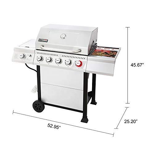 Product Image 8: Royal Gourmet GA5401T 5-Burner BBQ Liquid Propane Gas Grill with Sear Burner and Side Burner, <a href=