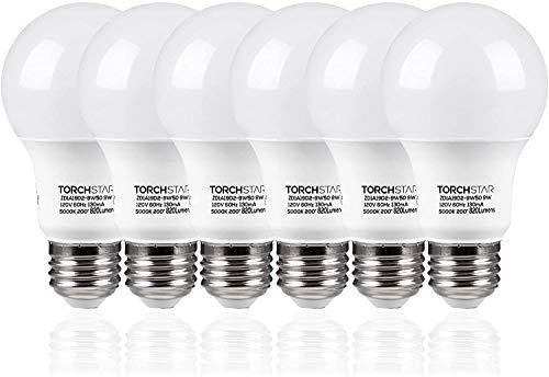 TORCHSTAR A19 LED Light Bulb, Pack of 6