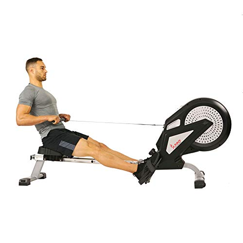 Sunny Health & Fitness SF-RW5623 Air Rowing Machine Rower w/LCD Monitor