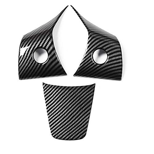 KSUVR Etiqueta engomada de la Cubierta de la decoración del Volante de Lentejuelas del Volante del Coche Estilo de Coche, para Tesla Model 3 2018 2019