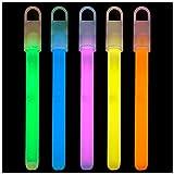 Lumistick 6 Inch Standard Glow Sticks with Strings - Kids Safe & Non-Toxic Light Up Sticks - Illuminating Luminescent Bulk Sticks - Glows in The Dark Chem Lights (Assorted, 25 Glow Sticks)