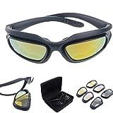 Polarisé Conduite Équitation Lentille Lunettes Des lunettes de soleil avec 4 lentilles pour moto...