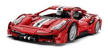 RSWLY Technics Car Set for Ferrari 488 Pista, 1126 Pcs Technic Sports Car Model, 1:12 Advanced Building Set for Adults and Children, Building Blocks Compatible with Technic