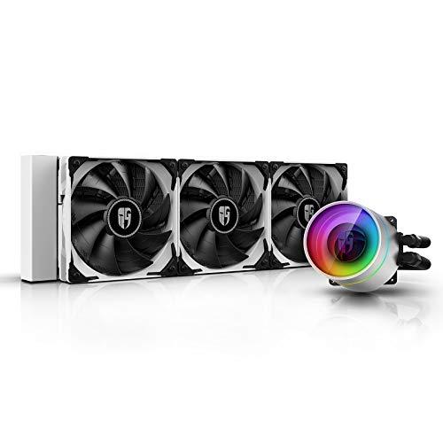 DEEP COOL Castle 360 Ex Bianco, Raffreddamento a Liquido RGB Indirizzabile per CPU, con Tecnologia...