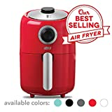 Dash Compact Air Fryer 1.2 L Electric Air Fryer Oven Cooker with Temperature Control, Non Stick Fry Basket, Recipe Guide + Auto Shut off Feature - Red (Renewed)