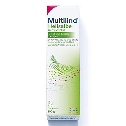 MULTILIND Heilsalbe - Zinksalbe bei Entzündungen der Haut mit dem Anti-Pilz Wirkstoff Nystatin und antibakteriellem Zinkoxid - 1 x 100 g Salbe