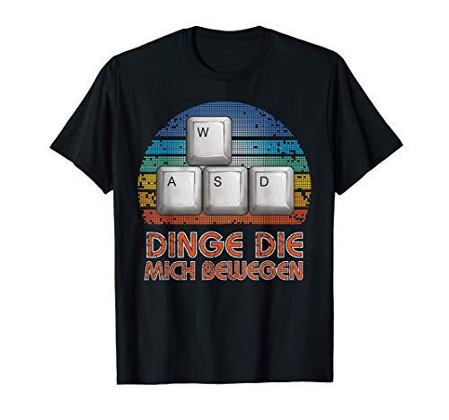 WASD PC Gamer Videospiel Gaming Zocken Geschenk für Zocker T-Shirt