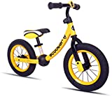 KOOKIDO Balance Bike with Air Tires, Kids Bike Without Pedal, 12 inch Bike for Kids Ages 3-5 (Champion Yellow)