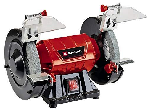 Einhell Touret à meuler TC-BG150 (puissance de 150W, pour les petites et grandes réparations, corrections de forme et polissages, vendu avec meule de dégrossissage et meule de ponçage fin K36/K60)