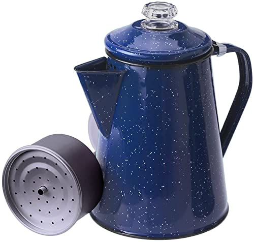 GSI Outdoors 8 Cup Enamelware Percolator Coffee Pot for Brewing...