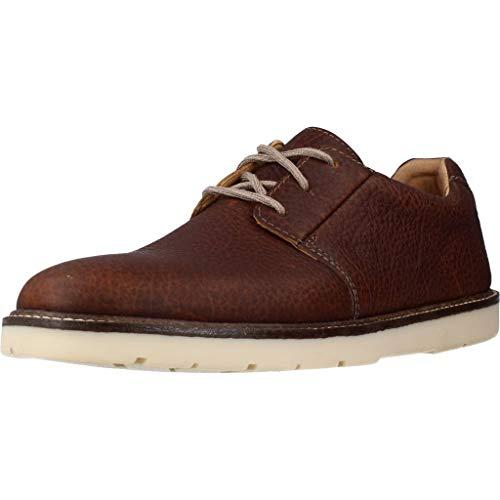 Clarks Grandin Plain, Zapatos de Cordones Derby Hombre, Piel marrón, 46 EU