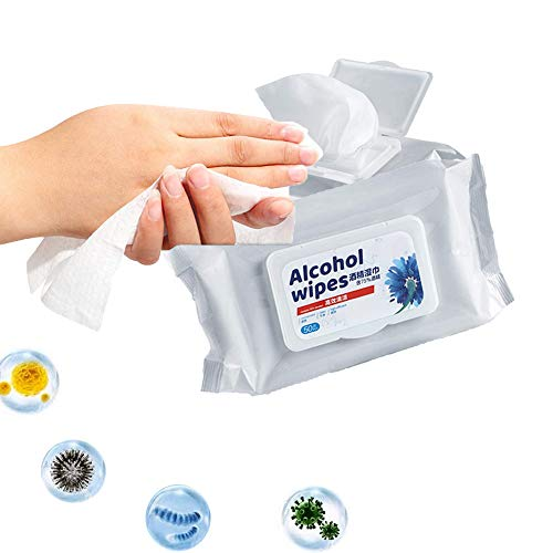 Alcohol Detergent Wipes (2 Packs,100Wipes),Large Wet Wipes(8'x6'),75% Soft Alcohol Wipes for All-Purpose Cleaning