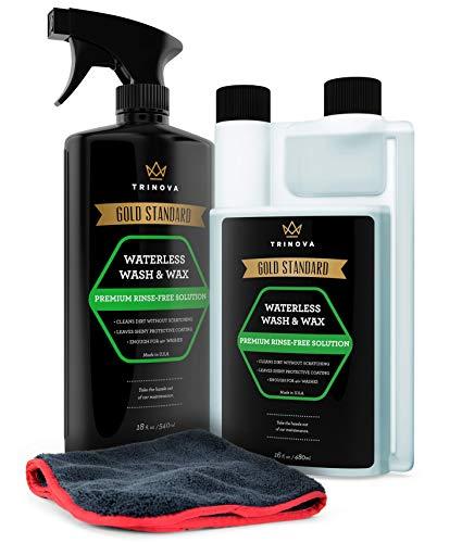TriNova Waterless Car Wash and Wax Kit - Bug Remover - Clean...