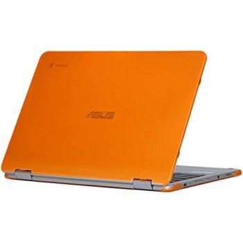 mCover iPearl Hard Shell Case for 12.5-inch ASUS Chromebook Flip C302CA Series Laptop - Orange