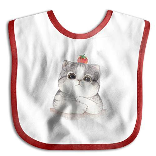 Hello Kitty Baby Bib Baby Boys Girls Skin-Friendly Saliva Towel Bib Red