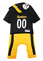 NFL woven jock tag for personalization. - Team name and logos are printed to make this an outstanding pet outfit Made with poly-cotton for maximum comfort with a Velcro closure for easy fit For sizing specifications, please refer to the Size Chart be...