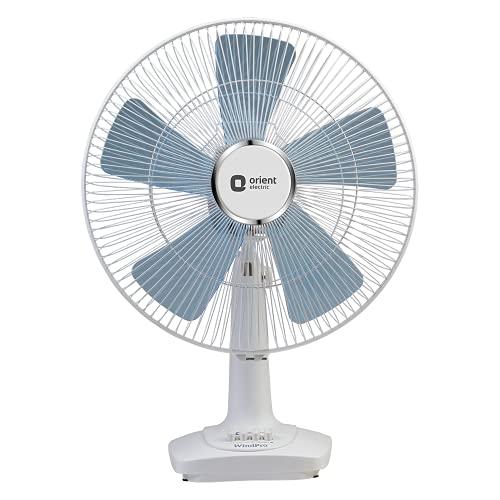 Orient Electric Wind Pro Desk-60 400mm Table Fan (White/Blue Tint)