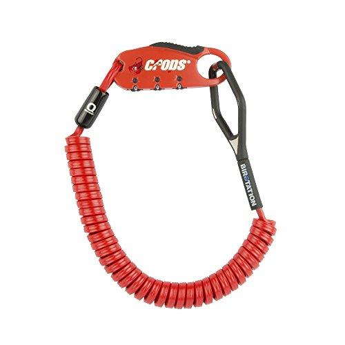 CROPS PRO Q4 Lucchetto Cavo Bici Casco Antifurto Combinazione 180cm - Rosso
