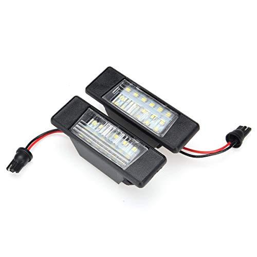 GZLMMY - Luci a LED per targa per Qashqai X-Trail Juke Primera P12 Pathfinder R51-2pcs Nessun errore OBC OBC lampadina targa auto 6000k bianco