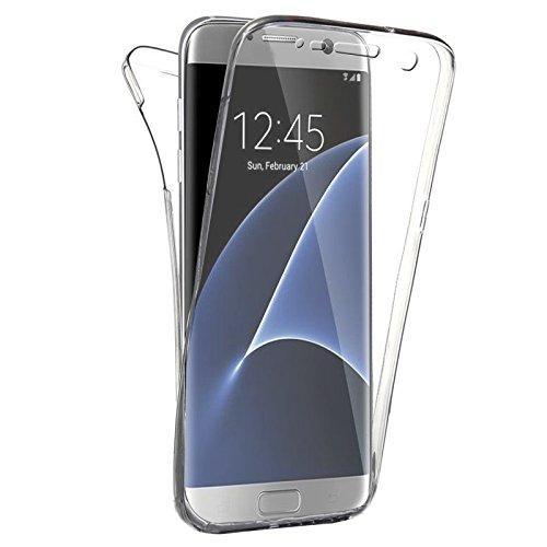 SAVFY Funda 360 Doble Delantera + Trasera Gel Transparente Silicona Gel Integral para Samsung Galaxy s7 edge