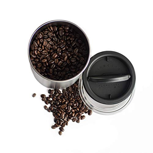 Product Image 4: Airscape Coffee and Food Storage Canister - Patented Airtight Lid Preserve Food Freshness with Two Way Valve, Stainless Steel Food Container, Medium 7-Inch Can, Brushed Steel