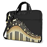 Laptop Notebook PC Bolso de Hombro-Novedoso Music Note Portable PC Mochila de Hombro Bolso Maletín Messenger con Correa 15.6 ″