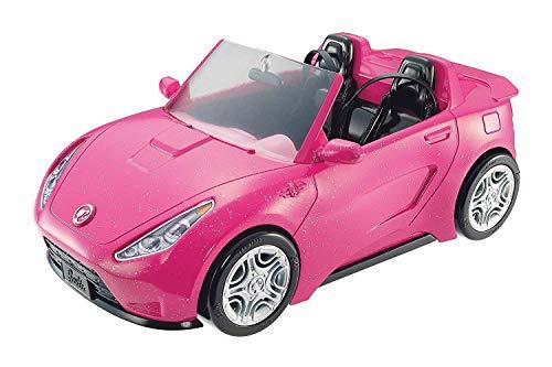 Barbie- Cabrio Glamour Auto Due Posti con Dettagli Realistici, Colore Rosa, DVX59