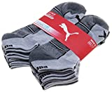 Puma Men's 6 Pair Coolcell Cushioned Low Cut Socks; White/Grey/Black (Shoe Size 6-12)