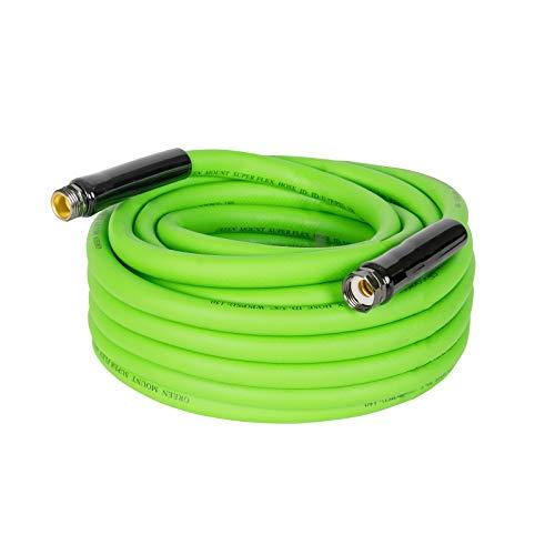 GREEN MOUNT Super Flex Garden PVC Water Hose, 50 Feet Heavy Duty Flexible Hose with 5/8 Inch Fittings