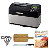 Zojirushi BB-CEC20 Home Bakery Supreme 2-Pound-Loaf Breadmaker, Black Includes 8' Bread Knife, Stainless Steel Measuring Spoon Set, Bamboo Cutting Board and Breadbook