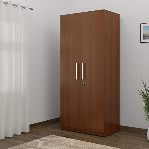 Spacewood Optima 2-Door Wardrobe (Walnut Rigato)