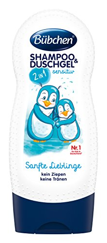 Bübchen Kids Shampoo und Duschgel sensitiv Sanfte Lieblinge, Kinder-Shampoo und -duschgel, pH-hautneutrale Pflege für Kinderhaut, mit frischem Duft, Menge: 1 x 230 ml