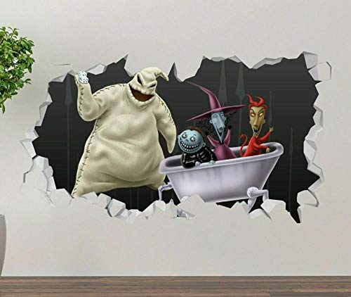 Nightmare Before Christmas Eve Wall Decal 3D Sticker Art Smashed Vinyl